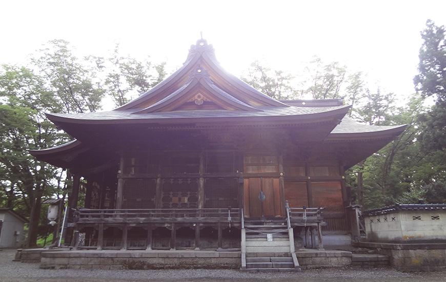 金峯神社横から